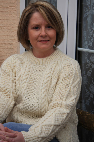 Classic Lady's Hand Knit Aran Sweater
