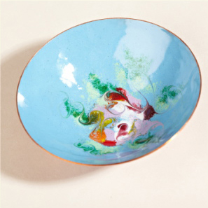 Decorative Enameled Bowl by Meab Enamels