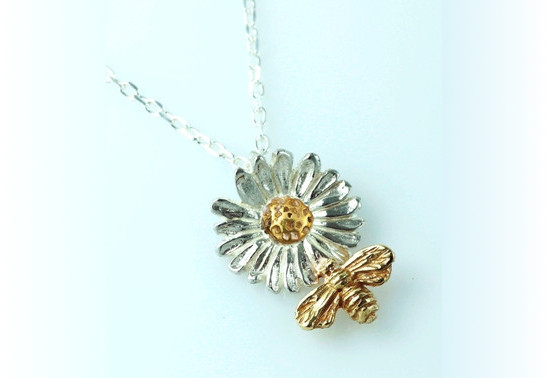 Daisy with Bee Pendant by Elena Brennan