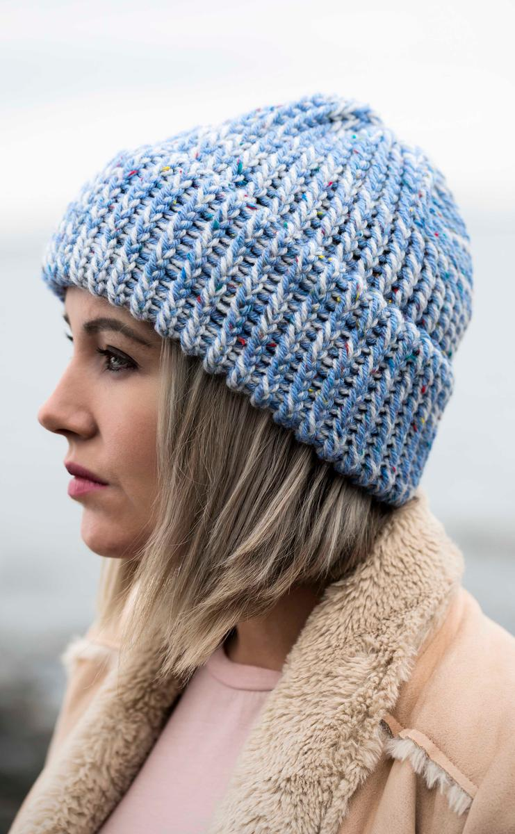 Hand-knitted Woollen Beanie Hats for Women by Louise Curran