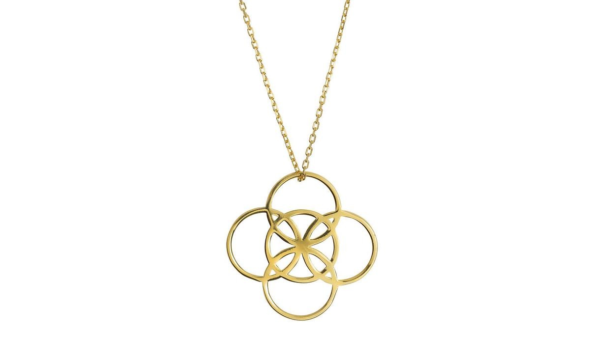 Serenity Gold Necklace by Liwu Jewellery