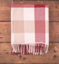 Foxford Woollen Mills Nordic Dublin Check Throw. Product thumbnail image