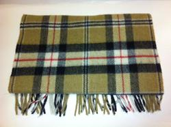 100% Lambswool Scarf in Camel and Black. Product thumbnail image