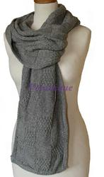 Aine Aran Scarf Grey. Product thumbnail image