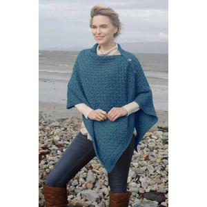 Buttoned Aran Cape in Merino Wool. Product thumbnail image