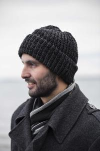 Hand-knitted Woollen Beanie Hats for Men by Louise Curran. Product thumbnail image