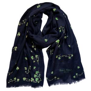 Shamrock Scarf in Navy by Patrick Francis. Product thumbnail image