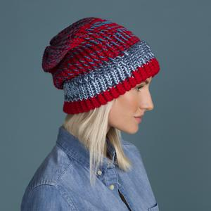 light blue red tweed slouch. Product thumbnail image