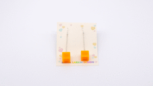 Drop Cheese Cubes Earrings. Product thumbnail image